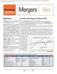 Mergers - Johnson Graduate School of Management