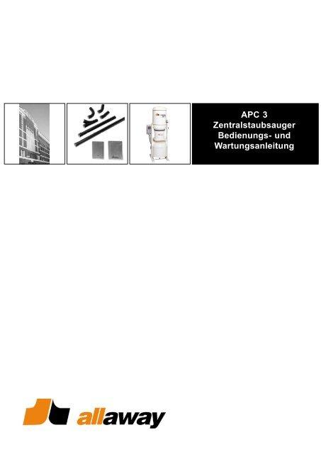 Manta APC 3 Anleitung zu Verwendung und Wartung ... - Allaway Oy