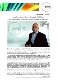 dwp Appoints New General Manager
