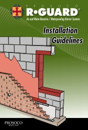 Air and Water-Resistive / Waterproofing Barrier Systems