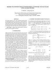 Hilbert Transform Pairs of Orthonormal Symmetric Wavelet Bases ...