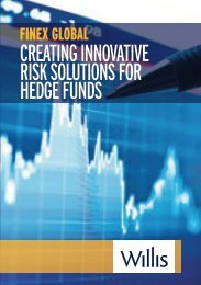 creating innovative risk solutions for hedge funds - Willis