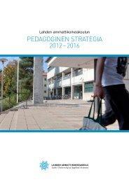 pedagoginen strategia 2012 – 2016 - Lahden ammattikorkeakoulu