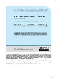 HDFC Fixed Maturity Plans - Series XI - HDFC Mutual Fund