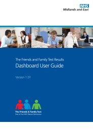 Dashboard User Guide - NHS Strategic Projects Team