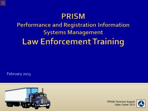 PRISM Training Slides - the Montana Department of Transportation