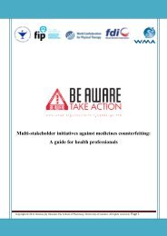 Multi-stakeholder initiatives against medicines counterfeiting: A ...