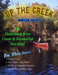 Winter 2013 #1 - Hackensack River Canoe & Kayak Club