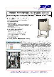 Prozess-Multikomponenten-Gasanalysator Massenspektrometer