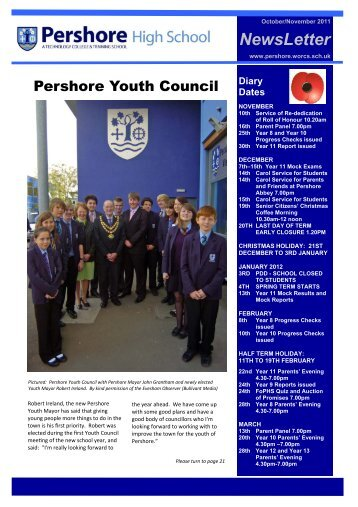 1) NEWSLETTER UPDATED 061111 - Pershore High School