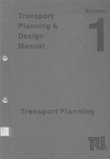 transport planning design manual hku libraries rh yumpu com HK Transport Department transport planning and design manual hong kong