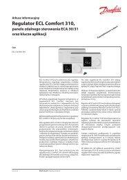 ECL Comfort 310 controller and remote control unit ECA ... - Danfoss