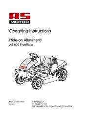 AS 800 Free Rider - Parts Depot UK