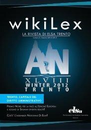 wikiLex n° 6 Autunno 2012 - ELSA Trento