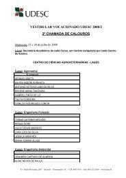 VESTIBULAR VOCACIONADO UDESC 2008/1 - Rbsdirect
