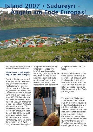 Island 2007 / Sudureyri - Angeln am Ende Europas! - Pfeiffer Fishing
