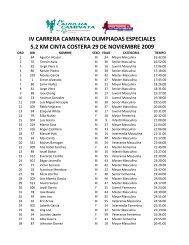 resultados carrera caminata olimpiadas ... - Panama Runners