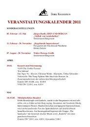 VERANSTALTUNGSKALENDER 2011 - Burg Kriebstein