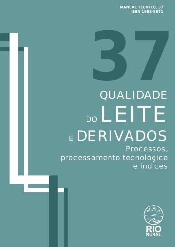 Qualidade do leite e derivados - Pesagro-Rio