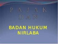 badan hukum nirlaba - Kebijakan Kesehatan Indonesia