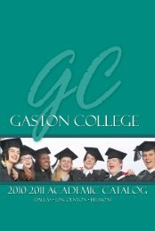 A Message From The President - Gaston College