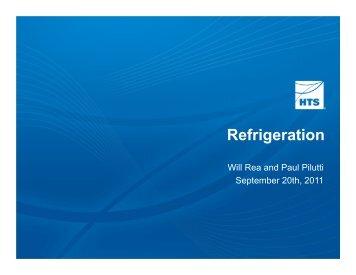 Refrigeration - HTS