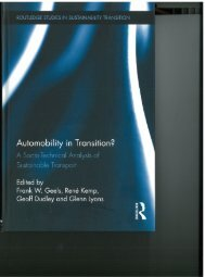 Automobility in Transition? Content, Preface and Introduction