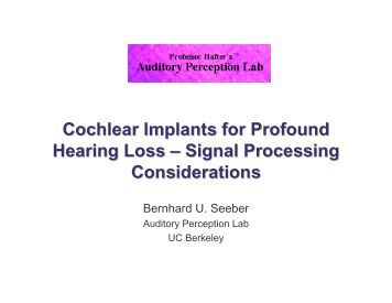 what is cochlear damage abstract Degeneration in the cochlea after noise damage: primary versus secondary events  abstract author information  conclusions the patterns of cochlear damage and .