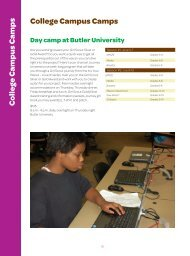 Butler University Camp - Girl Scouts of Central Indiana
