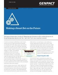 Making a Smart Bet on the Future - Genpact
