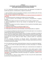 CAPÍTULO I DA DEFINIÇÃO, QUALIFICAÇÃO ... - Sinpro/RS