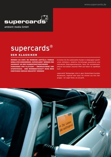 Promoter - supercards® Ambient Media
