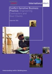 Conflict-Sensitive Business Practice - Engineers Against Poverty