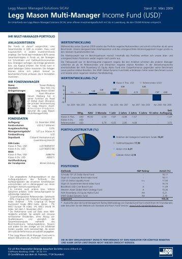 Legg Mason Multi-Manager Income Fund (USD)*