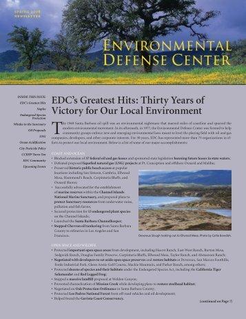 Spring - Environmental Defense Center