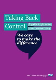 Taking Back Control A Guide To Planning Your Own Recovery