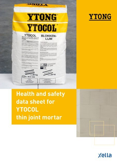 Health And Safety Data Sheet For Ytocol Thin Joint Mortar Xella Uk