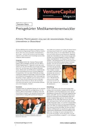 August 2004 - Antisense Pharma