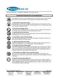 Brukerhåndbok – RUNDT PROMO barnebasseng. - Partnerline AS