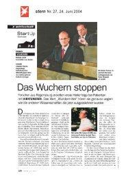 stern Nr. 27, 24. Juni 2004 - Antisense Pharma