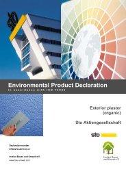 EPD-STO-2011331-D - Institut Bauen und Umwelt