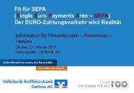 SEPA-Präsentation vom 27.02.2013 - Volksbank Raiffeisenbank ...