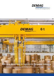 A new dimension in logistics in the paper industry - Demag Cranes ...