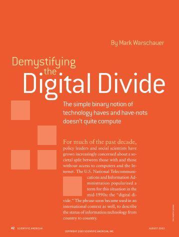 Demystifying - Scientific American Digital