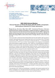 Press Release - Antisense Pharma