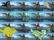 What Did Dinosaurs Eat?