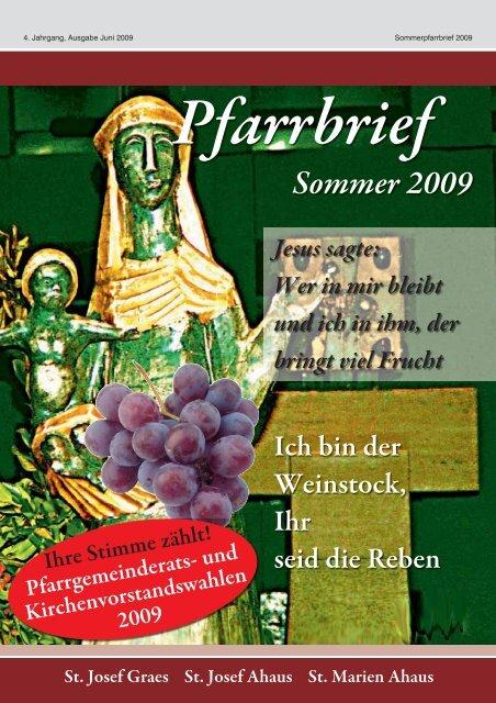 Pfarrbrief Sommer 2009 - Pfarrgemeinde St. Mariä Himmelfahrt