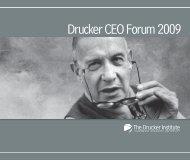 Drucker CEO Forum 2009