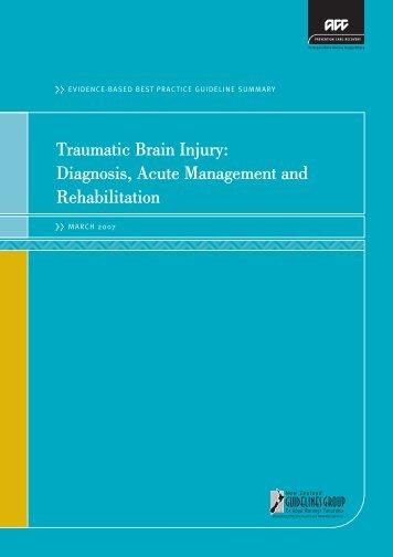 Traumatic brain injury - ACC