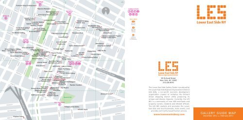 gallery guide map - Lower East Side Business Improvement ...
